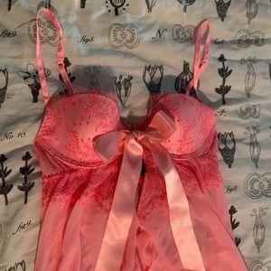 Victoria's Secret Bright Pink Teddy